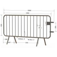 Wholesale Event Fence panels hot dipped galvanized 1100mm x 2500mm Brisbane Crowd Control Barriers Supplier Hot dipped galvanized from china suppliers