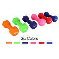 China Colorful Vinyl Dumbbell Set 1 lb to 5 lbs Fitness Training Aerobic dumbbells on sale