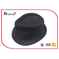 Wholesale Black Herringbone Ladies Trilby Hats SGS / ITS / REACH compliance from china suppliers