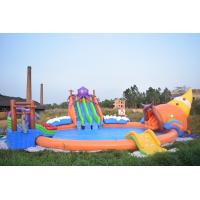 Wholesale 20m Giant Portable Inflatable Water Sport Park With Slide And Pool For Land from china suppliers