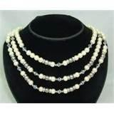 China FPNC00001 Natural 3 rows 4mm Tie Clasps Women's beaded pearl necklaces for Wedding on sale