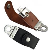 Wholesale Custom 4GB, 8GB Bootable Leather Usb Sticks Memory Flash Drives with Keychain for Gift from china suppliers