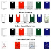 Wholesale plastic garbage bag, t-shirt bag on roll, pe garbage bag, China HDPE T-shirt bags on roll from china suppliers