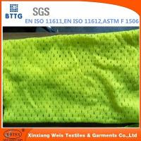 Buy cheap EN20471 inherent FR Modacrylic/cotton knitted mesh fabric from wholesalers