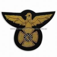 Wholesale Bullion Emblem/Badge, Ideal for Apparel, Garments, Homespun Fabric and Room Ornaments from china suppliers