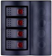 Wholesale  DC Waterproof 4-Position Lighted Rocker Switch Panel  from china suppliers