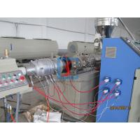 Buy cheap 50mm - 160mm PVC Plastic Pipe Extrusion Machine With High Efficiency from wholesalers