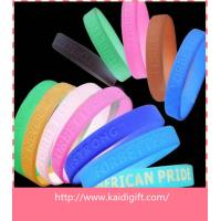 Wholesale Promotional Fashion Carved Thin Rubber Bracelet Silicone Wristband Party Favors from china suppliers