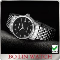 Wholesale Eco Friendly Genuine Stainless Steel Mens Watches 3-5 ATM With Leather Band from china suppliers