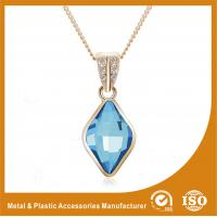 Wholesale Blue Crystal Silver Chain Necklace Powder Coating Surface Treatment from china suppliers