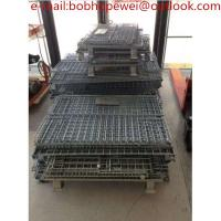 Wholesale 1Wire Mesh Containers storage cage/ Storage Warehouse Wire Folding Container/Wire Mesh Containers/ Stackable cage from china suppliers