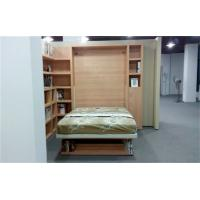 Wholesale Vertical Wall Bed Double Size Space Saving Wall Bed With Bookshelf and Table from china suppliers