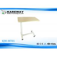 Wholesale Movable Wooden Tray Tables , Hospital Dining Table Match With Care Bed KJW-MT 01 from china suppliers