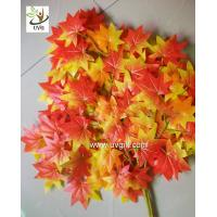 Wholesale UVG garden ornament orange artificial maple leaves for holiday living outdoor decoration GRE054 from china suppliers