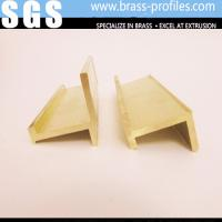 Buy cheap Brass Alloys Window Shapes / Copper Furniture Window Frames H Profiles from wholesalers