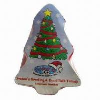 Wholesale Compressed/Magic Towel in Christmas Tree Shape, Ideal for Promotional Gifts from china suppliers