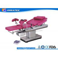 Buy cheap Manual Gynecologist Obstetric Table for Examination and Treatment with cushion , Clamp from wholesalers