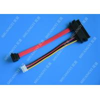 Wholesale Female 22-pin to Male 7-pin SATA Data & Molex HSG Data Extension Cable from china suppliers
