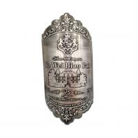 Wholesale 3D embossed metal wine bottle label and perfume bottle label maker from china suppliers