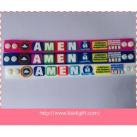 Wholesale made in China custom soft PVC AMEN  wristband bracelet from china suppliers