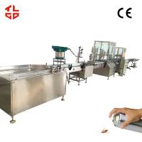 Wholesale Automatic Aerosol Spray Filling Line, Automatic Insecticide / Pesticide Filling Machines from china suppliers