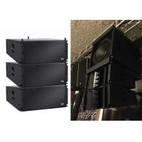 Wholesale High output outdoor Professional line array speaker boxes with sand texture paint pa system from china suppliers
