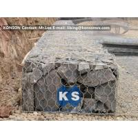 Wholesale Steel Hexagonal Wire Mesh Gabion Box / Gabion Baskets For Bridge Protection from china suppliers