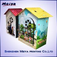 Wholesale CMYK / Pantone Printing Cardboard Kids Toys , Corrugated cardboard house from china suppliers