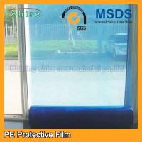 Wholesale Durable Temporary Glass Protection Film , Anti - Oil Blue Window Protection Film from china suppliers