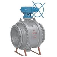 Wholesale API Fixed Flanged Ball Valve , Trunnion Ball Valve Flanged End With Cast Steel from china suppliers