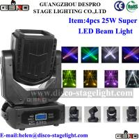 Wholesale 4pcs*25W LED Beam Moving Head Color Changing Outdoor Stage Light from china suppliers