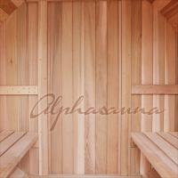 Quality 7 Foot By 7 Foot Barrel Shaped Sauna For 3-4 Person , Traditional Sauna Kit for sale