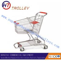 Wholesale Airport Zinc Coated Steel Shopping Cart Trolley Unfolded 80L from china suppliers