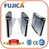 Quality Automatic Flap Barrier Gate with Fingerprint Reader Access Control for sale