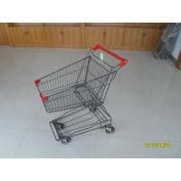 Wholesale Small Shopping Carts With Red Palstic Parts of 45L Super Market Shopping Cart from china suppliers