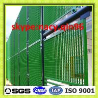 Wholesale green steel grating fencing panels  /painted grating fence from china suppliers