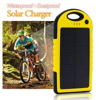 Wholesale Dustproof double usb solar mobile phone battery charger 5000mAh from china suppliers