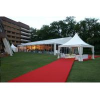 Wholesale Large Outdoor Wedding Tent White PVC Coated Fabric Self Cleaning / Fireproof from china suppliers