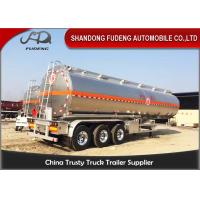 Wholesale 304 Stainless Steel 15000 Gallon 35000L Diesel / Gasoline Tank Trailer With 12 Wheeler from china suppliers
