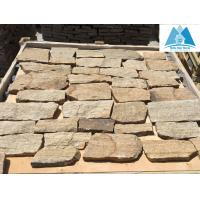 Wholesale Golden Yellow Quartzite Random Flagstone Wall Irregular Flagstone Wall Cladding Crazy Ston from china suppliers
