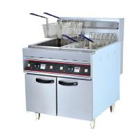 Wholesale 9KW 380V Freestanding Twin Basket Kitchener Triple Basket Deep Fryer 28L * 2 from china suppliers
