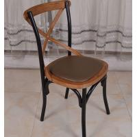 Wholesale Fashion Restaurant Furniture Wood Stacking Cross Back Dining Room Chairs from china suppliers