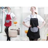 Quality Contrast Color Custom Embroidered Aprons Working Cooking For Coffee Shop for sale