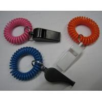 Wholesale Wrist Coil Strap Spiral Key Holder W/Promotional Plastic Whistle from china suppliers