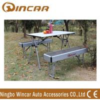 Wholesale Heavy Duty Aluminum Expandable Portable Camping Table With Bench from china suppliers