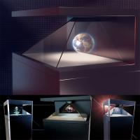 270° Full HD 3D Hologram Pyramid Display Showcase Holo Box Holographic Advertising