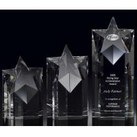 China rising star crystal award/3d laser engraving crystal star trophy/2d laser engraving award on sale