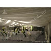 Wholesale Exterior Decoration Luxury Wedding Marquee , Aluminum Outdoor Big Tent White Roof And Wall Lining from china suppliers