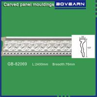 Quality Polyurethane Carved Panel Mouldings/ Chair rails/ white primed color customized OEM accepted for sale