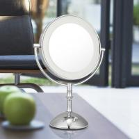 Wholesale Magnifying 3X Cosmetic Double Sided Lighted Makeup Mirror White / Warm Whita Can Change from china suppliers